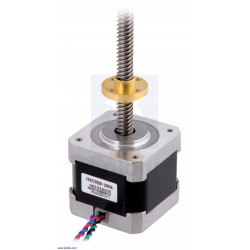 NEMA17 Stepper Motor with 38cm Lead Screw: Bipolar, 200 Steps/Rev, 42×38mm, 2.8V, 1.7 A/Phase