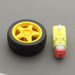 DC motor kit with 48: 1 gearbox + Wheel