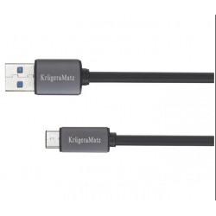 Kabel USB A 3.0/USB C, 50 cm Kruger&Matz