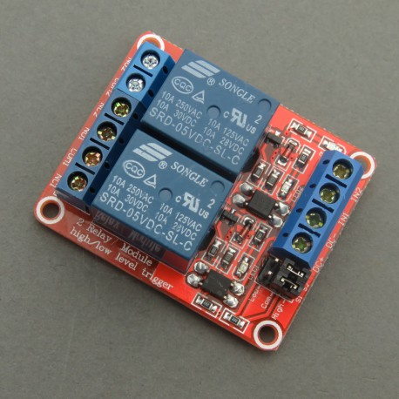 modRL02_ISO - moduł mocy z dwoma przekaźnikami 5V i optoizolacją wejść