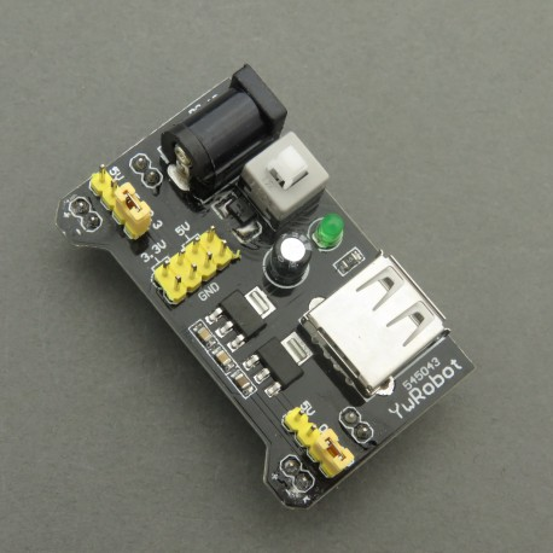 Moduł zasilania do płytek stykowych 5V 3.3V oraz 5 V USB