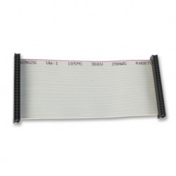 Ribbon cable with female IDC 2.54mm 40-wire connectors
