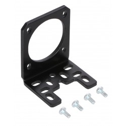 Stamped Aluminum L-Bracket for NEMA 17 Stepper Motors