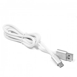 USB A 2.0 / USB C silicone cable 1 m, white eXtreme
