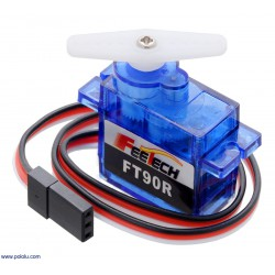 Pololu 2817 - FEETECH FT90R Digital Micro Continuous Rotation Servo
