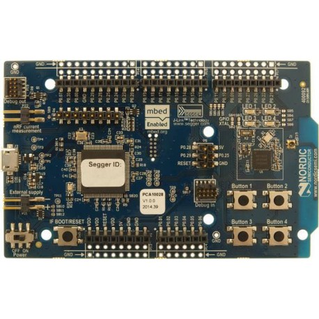 Nordic nRF51-DK - development board with Bluetooth and 2.4 GHz connectivity