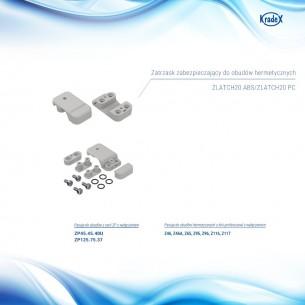 Podwozie 4WD z silnikami, czerwone