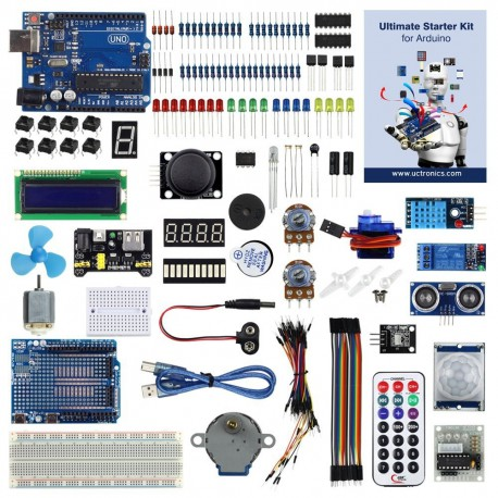 Enlarged starter kit for Arduino from UTRONICS