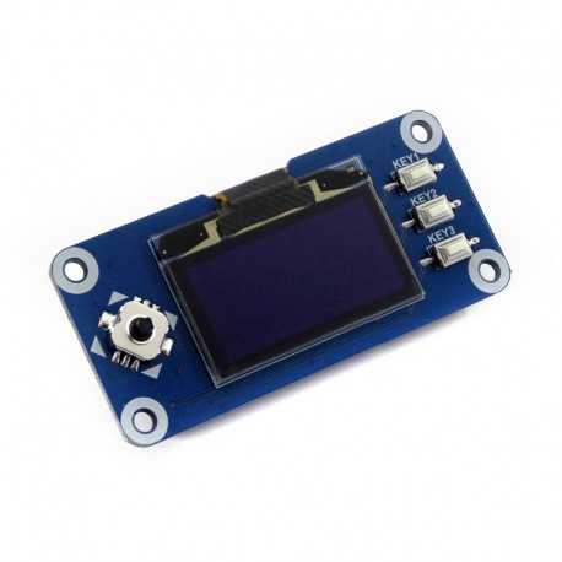 """Wyświetlacz OLED 1,3"""" firmy Waveshare do Raspberry Pi - widok od góry"""