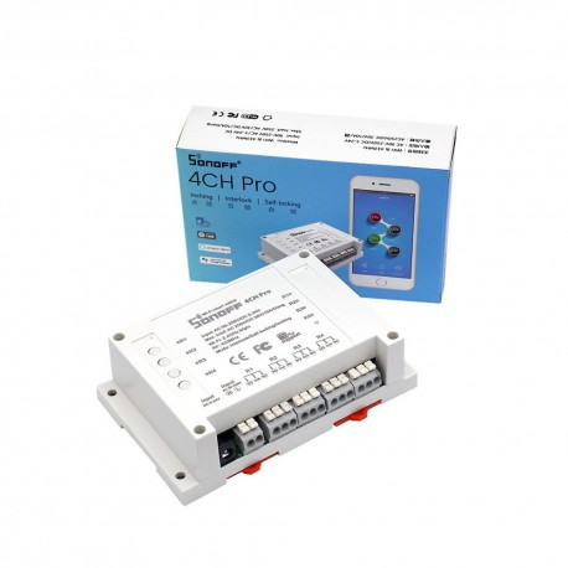 Sonoff 4CH Pro - 4-kanałowy przełącznik Wi-Fi/433MHz