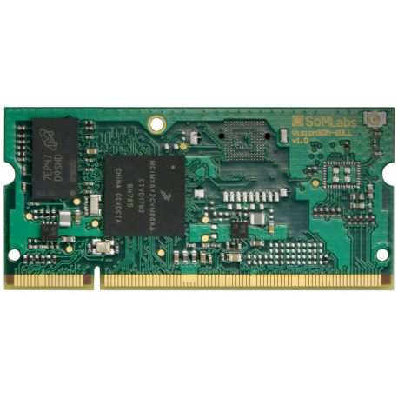 VisionSOM-6ULL - moduł z procesorem i.MX6 ULL, 256MB RAM, 256MB NAND i modułem WiFi/BT