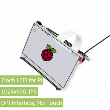 "Waveshare color LCD DPI IPS 7 ""1024 x 600 for Raspberry Pi"
