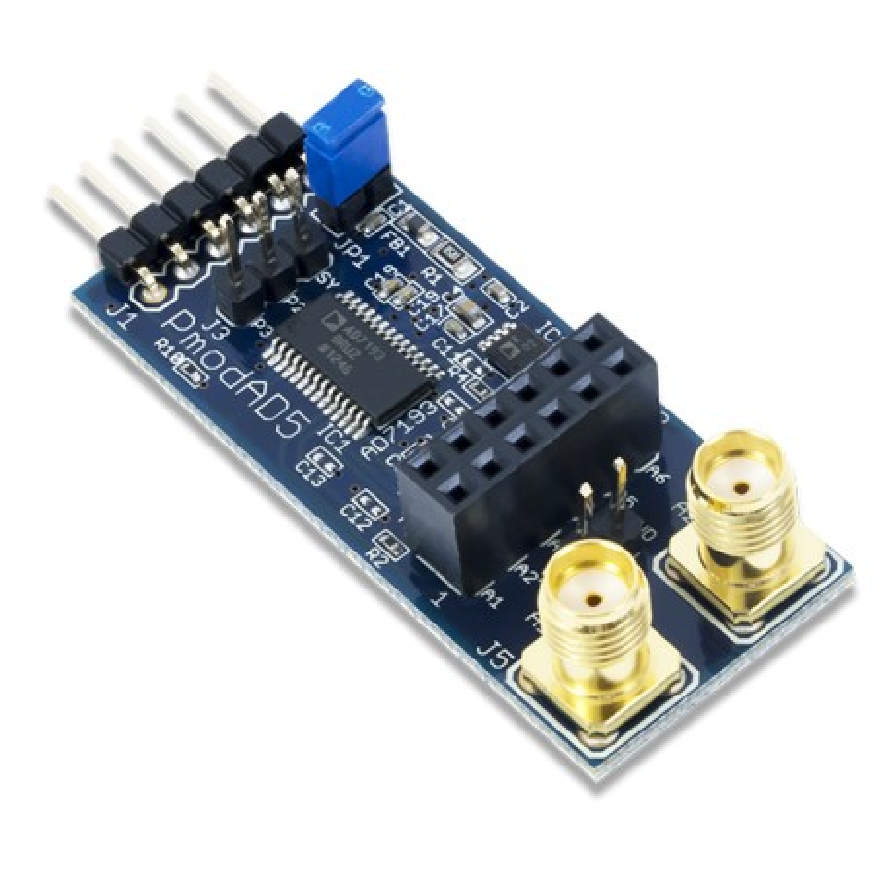 PmodAD5 (410-243) - moduł 4-kanałowego 24-bitowego konwertera ADC