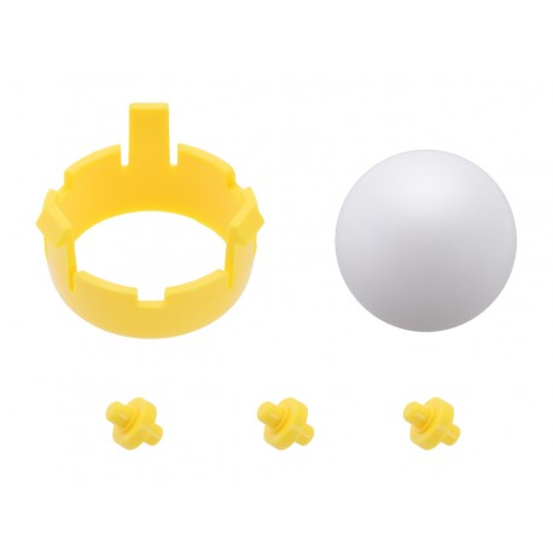 Kulka podporowa + mocowanie dla podwozia Romi Chassis - Żółte