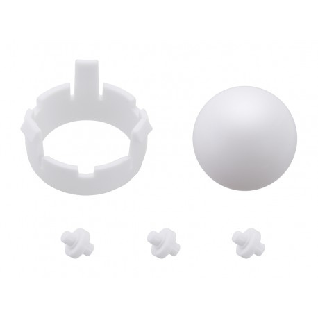 Support ball + fixing for Romi Chassis - White