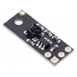 Pololu 4441 - QTRX-MD-01A Reflectance Sensor: 1-Channel, 7.5mm Wide, Analog Output, Low Current