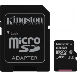 Karta pamięci Kingston micro SDXC 64GB klasa 10 z adapterem