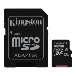 Karta pamięci Kingston micro SDXC 128GB klasa 10 z adapterem