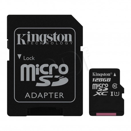 Memory card Kingston micro SDXC 128GB class 10 with adapter