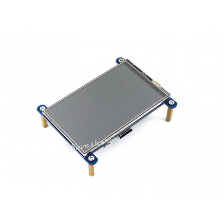 """4 """"800x480 LCD touch screen for Raspberry Pi - top view"""