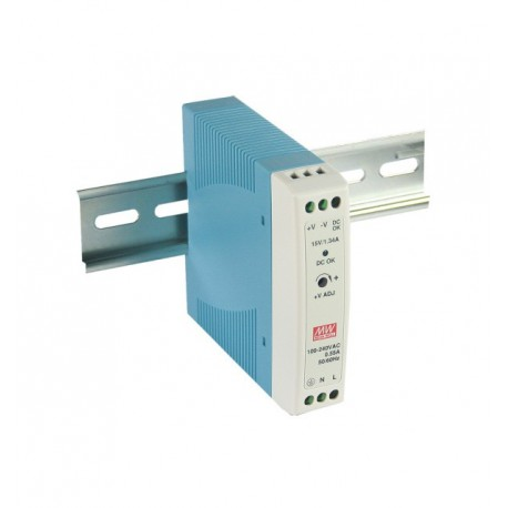 Switching power supply 30W, 5VDC, 6A, MDR-40-5 MEAN WELL
