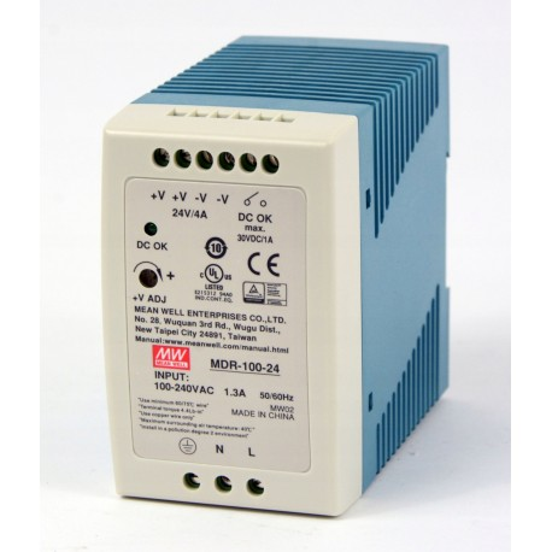 Zasilacz impulsowy 96W, 24VDC, 4A, MDR-100-24 Mean Well