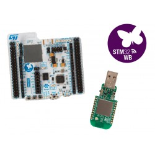 P-NUCLEO-WB55 - zestaw do komunikacji Bluetooth 5.0 i IEEE 802.15.4 (USB Dongle i Nucleo-68)