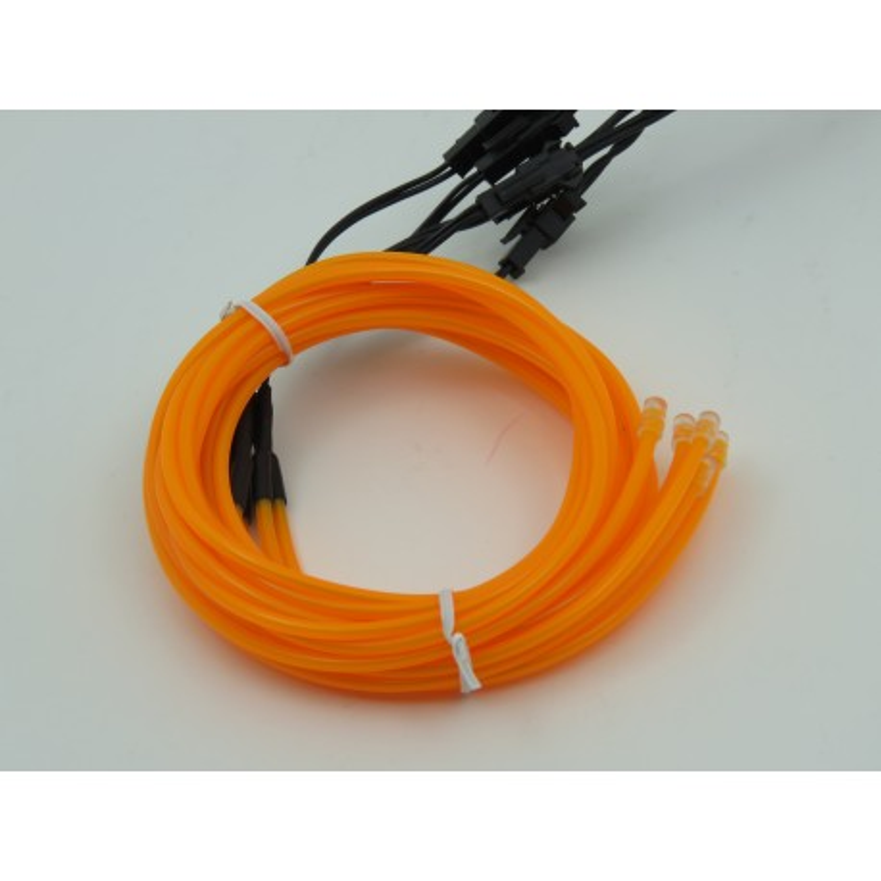 Zestaw z żółtymi przewodami EL Wire