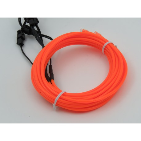 Set with orange EL Wire