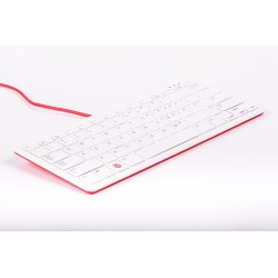 The official keyboard for Raspberry Pi white and red