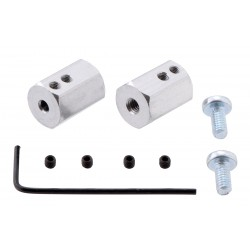 12mm Hex Wheel Adapter for 3mm Shaft (2-Pack)