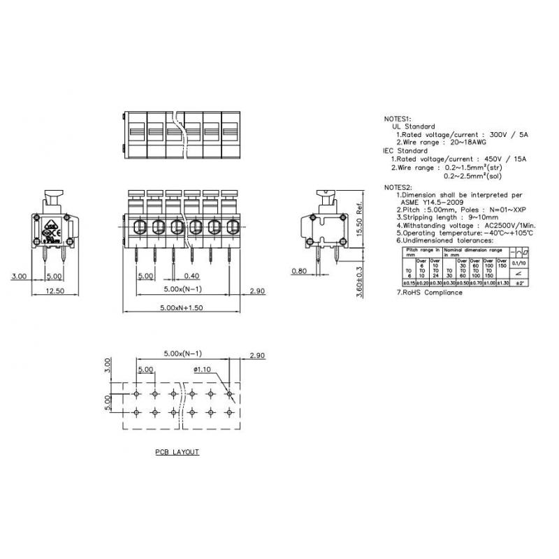 Inverter XL4016SD step-down 280W 1,2V-35V 9A