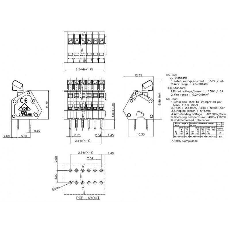 SOP28 PCB adapter for DIP28