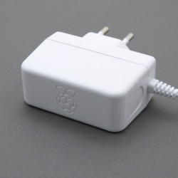 The official power supply for Raspberry Pi 5.1V 2.5A white