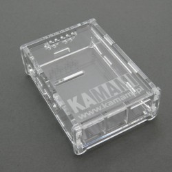 Case for Raspberry Pi 4 transparent with KAMAMI logo