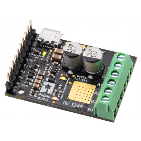 Tic T249 USB Multi-Interface Stepper Motor Controller (Connectors Soldered)