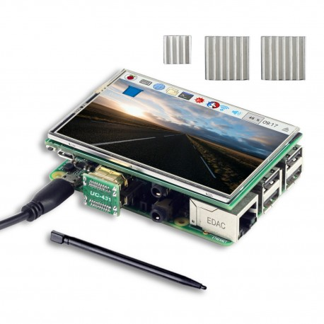 3.5 Inch HDMI TFT LCD Display with Touch Pen, 3 Heat Sinks for Raspberry Pi