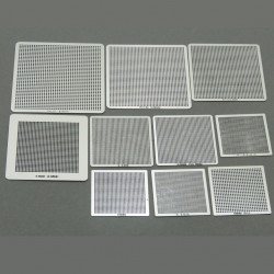 Set of 10 universal BGA sieves for direct heating