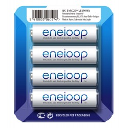 Panasonic Eneloop R6/AA 2000mAh Rechargeable Batteries - 4 pcs