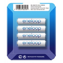 Panasonic Eneloop R03/AAA 800mAh Rechargeable Batteries - 4 pcs