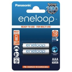 Panasonic Eneloop R03/AAA 800mAh Rechargeable Batteries - 2 pcs