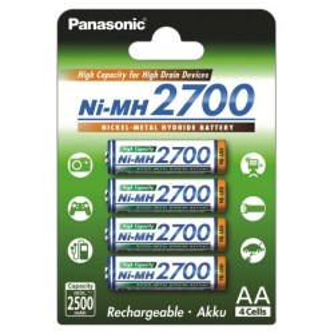 Panasonic R6/AA 2700mAh Rechargeable Batteries - 4 pcs