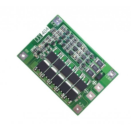 BMS PCM 11.1V 40A module for Li-Ion cells