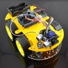 Four-wheel remote-controlled robot with Arduino Uno R3 (assembly kit)