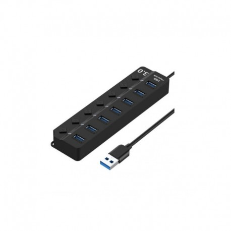 Active USB 3.0 Hub - 7 ports with switches
