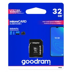 GOODRAM micro SDHC 32GB class 10 memory card with adapter