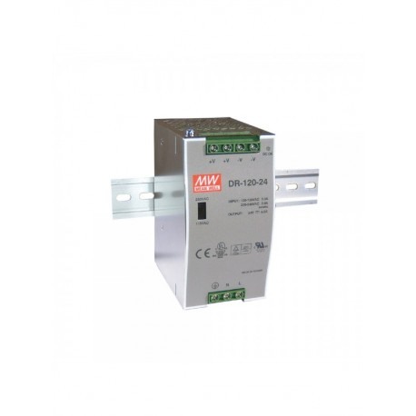 DR-120-24 power supply. DIN mounting