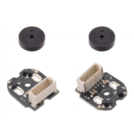 A set of magnetic encoders for Pololu Micro motors