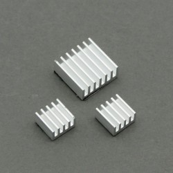 Aluminum heat sinks (3 pieces) for Raspberry Pi (silver)