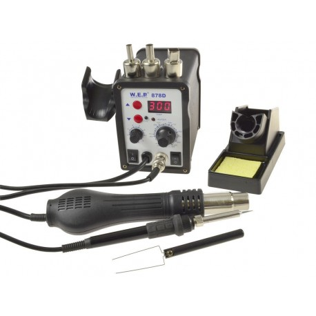 WEP 878D - 2in1 soldering station 700W
